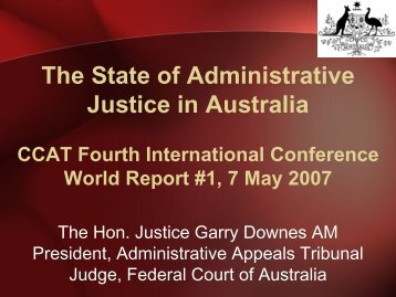 C.9c The State of Administrative Justice in Australia - Ccat-ctac.org