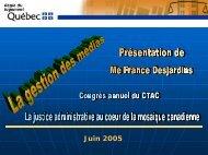 La gestion des médias - Ccat-ctac.org
