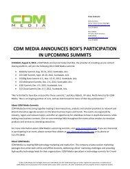cdm media announces box's participation in upcoming summits