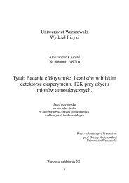 Tytuł: Badanie efektywności liczników w bliskim detektorze ...