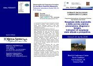 prevenzione, diagnosi e terapia. Indicatori di neoplasie - Sezione di ...