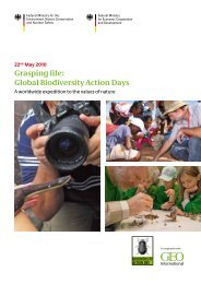 Grasping life: Global Biodiversity Action Days - International ...