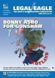 Legal Eagle Investigations newsletter June 2012 No 67 - RSPB