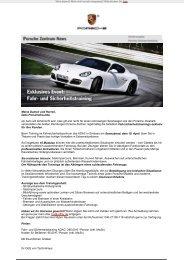 Spannung, Adrenalin und jede Menge Spaß - Porsche