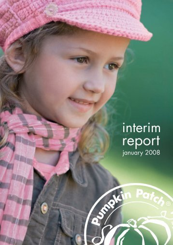 report - Pumpkin Patch investor relations