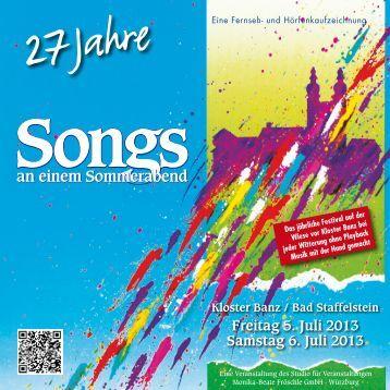 Programmheft 2013 (PDF) - Songs an einem Sommerabend