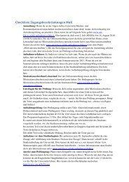 Checkliste Zugangsbeschränkungen - Universität Klagenfurt