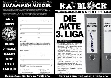 DIE AKTE 3. LIGA - Supporters Karlsruhe 1986 eV