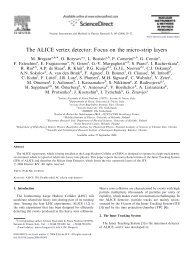 The ALICE vertex detector: Focus on the micro-strip ... - INFN Trieste