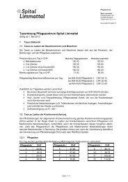 Taxordnung PZ (PDF, 39,0 KB) - Spital Limmattal