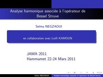 Analyse harmonique associée à l'opérateur de Bessel ... - UVT e-doc