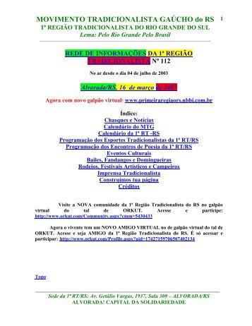 MOVIMENTO TRADICIONALISTA GAÚCHO do RS 1ª ... - clicRBS