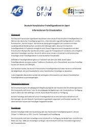 Deutsch-französischer Freiwilligendienst im Sport Informationen für ...