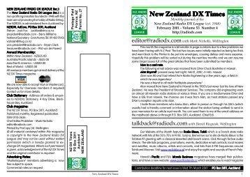 New Zealand DX Times - World FM