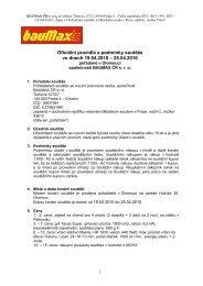 Oficiální pravidla a podmínky soutěže ve dnech 19.04.2010 - bauMax