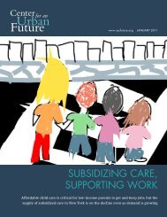 subsidizing care, supporting work - Center for an Urban Future