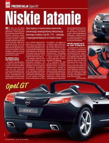 Niskie latanie. Prezentacja. Opel GT (plik PDF 800 kB) - Opel Dixi-Car