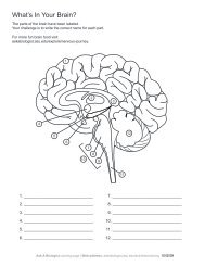 Ask A Biologist - Human Brain - Coloring Page