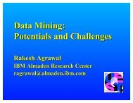 Data Mining - Rakesh Agrawal's Home Page