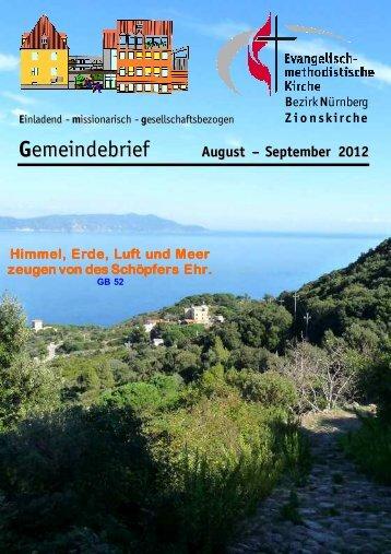 Gemeindebrief Aug-Sep 2012 - Zionsgemeinde