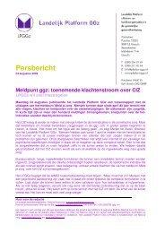 Persbericht - Landelijk Platform GGz