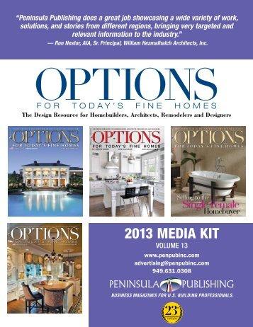 OPTIONS OPTIONS - Peninsula Publishing