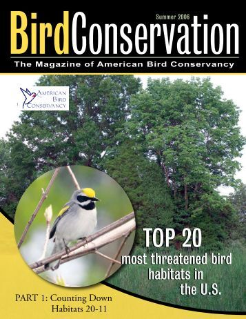 Read ABC's report on the Top 20 Most Threatened Bird Habitats in ...