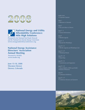 2008 - National Energy and Utility Affordability Conference