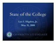 President's State of the College Presentation