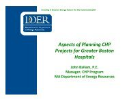 Planning & Incentives for Hospital CHP - Boston Green Ribbon ...