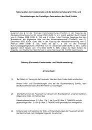 Gebühren- und Kostensatzung der Feuerwehr - Freiwillige ...