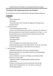 Checkliste für die Vorbereitung auf das neue Schuljahr - Staatliches ...