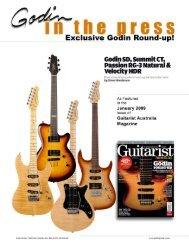 godin sd, summit ct, passion rg-3 natural - Godin Guitars
