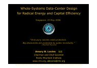 Whole-Systems Data-Center Design for Radical ... - Energy Efficiency
