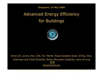 Advanced Energy Efficiency for Buildings