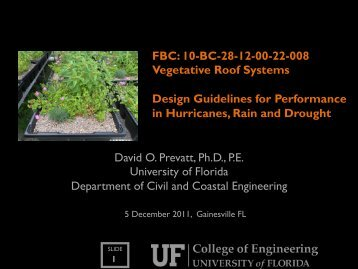 FBC: 10-BC-28-12-00-22-008 Vegetative Roof Systems Design ...
