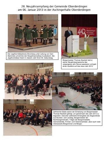Bildernachlese zum 28. Neujahrsempfang der ... - Oberderdingen