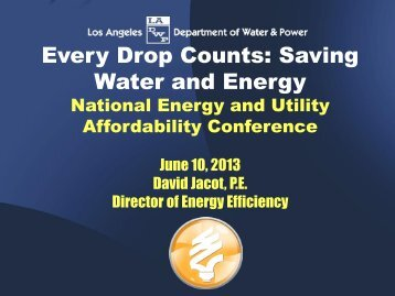 Jacot, David - National Energy and Utility Affordability Conference