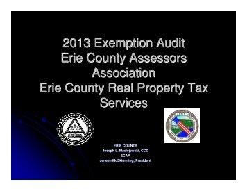 2013 Exemption Audit Erie County Assessors Association Erie ...