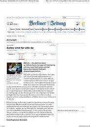 Carsharing: Autos sind für alle da | Wirtschaft - Berliner Zeitung