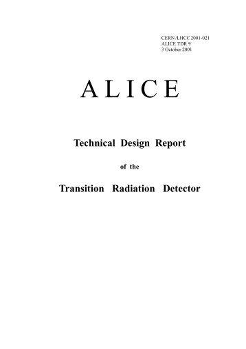 Technical Design Report Transition Radiation Detector - alice - GSI