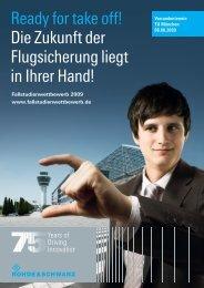 Ready for take off! Die Zukunft der Flugsicherung liegt in Ihrer Hand!