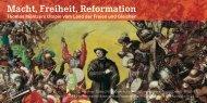 Macht, Freiheit, Reformation
