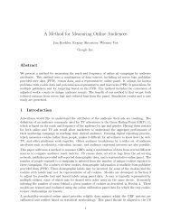 A Method for Measuring Online Audiences - Research at Google