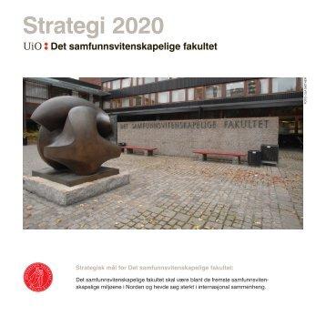 Strategisk plan - Det samfunnsvitenskapelige fakultet - Universitetet i ...