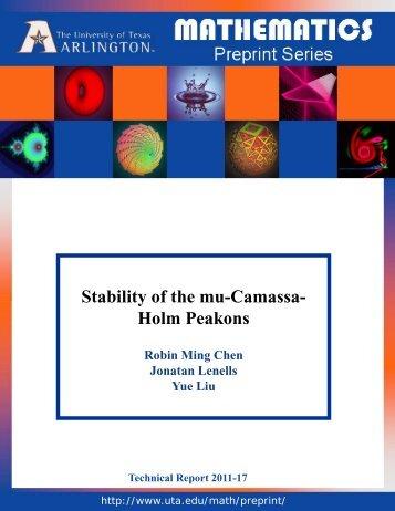 Stability of the mu-Camassa- Holm Peakons - The University of ...