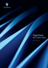 Triple Point VCT 2011 PLC - Clubfinance