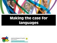 Making the case for languages - Rachel Hawkes