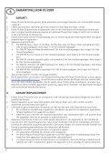 takuu garanti warranty garantie garantii gwarancja гарантия ... - Page 4