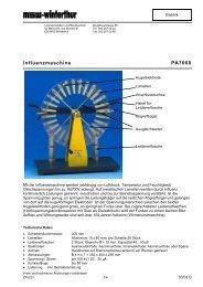Influenzmaschine PA7060